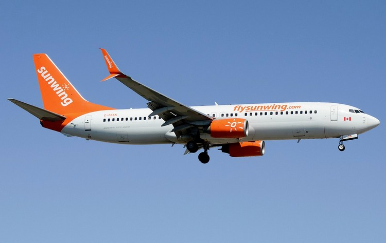 Sunwing Airlines задержка рейса